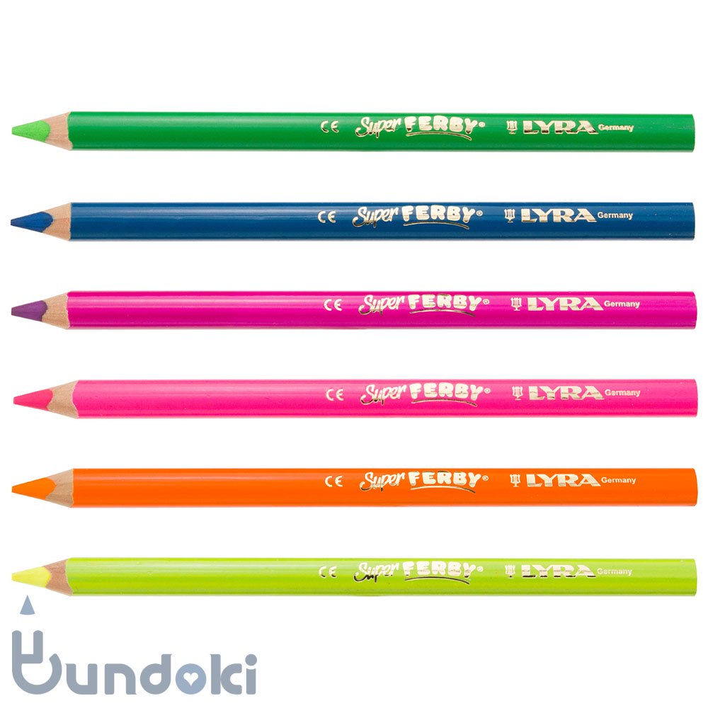【LYRA/リラ】SUPER FERBY NEON/蛍光色色鉛筆 (6色入り)