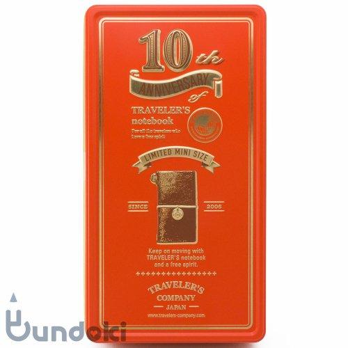 【MIDORI/ミドリ】トラベラーズノートミニ 10周年缶セット (茶)