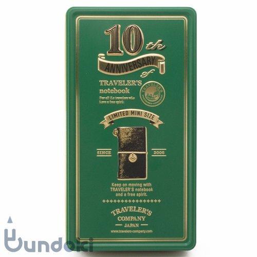 【MIDORI/ミドリ】トラベラーズノートミニ 10周年缶セット (黒)