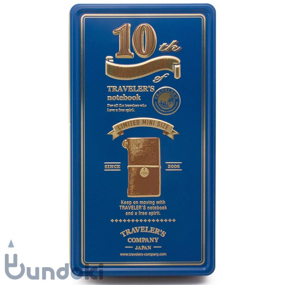 【MIDORI/ミドリ】トラベラーズノートミニ 10周年缶セット (キャメル)