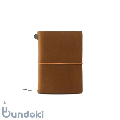 【MIDORI/ミドリ】トラベラーズノートパスポートサイズ (キャメル)