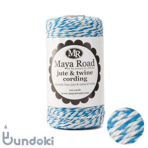 【Maya Road/マヤロード】Jute & Twine Cording  (Popsicle Blue jute & Natural twine)