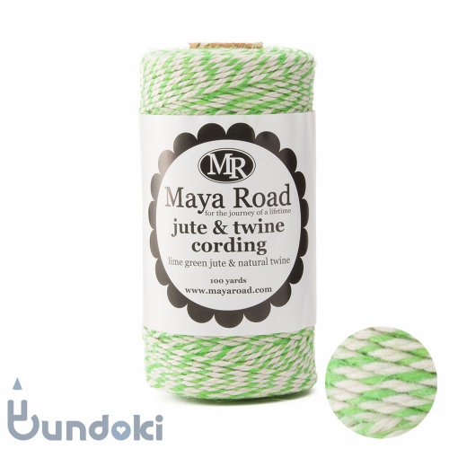 【Maya Road/マヤロード】Jute & Twine Cording  (Lime Green jute & Natural twine)