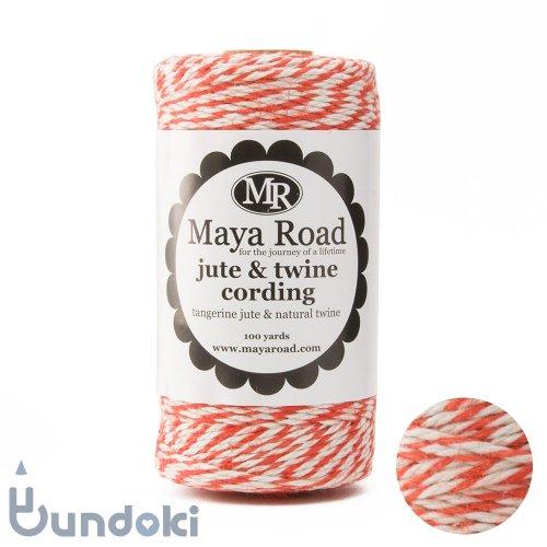 【Maya Road/マヤロード】Jute & Twine Cording  (Tangerine jute & Natural twine)