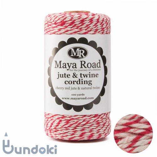 【Maya Road/マヤロード】Jute & Twine Cording  (Cherry Red jute & Natural twine)
