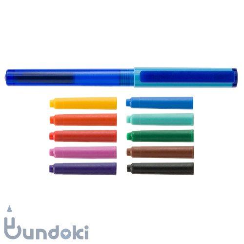 【Viva pen】Space万年筆 &インクカートリッジ10色セット (ライトブルー×ブルー)