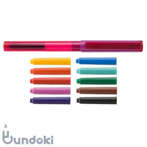 【Viva pen】Space万年筆 &インクカートリッジ10色セット (パープル×ピンク)