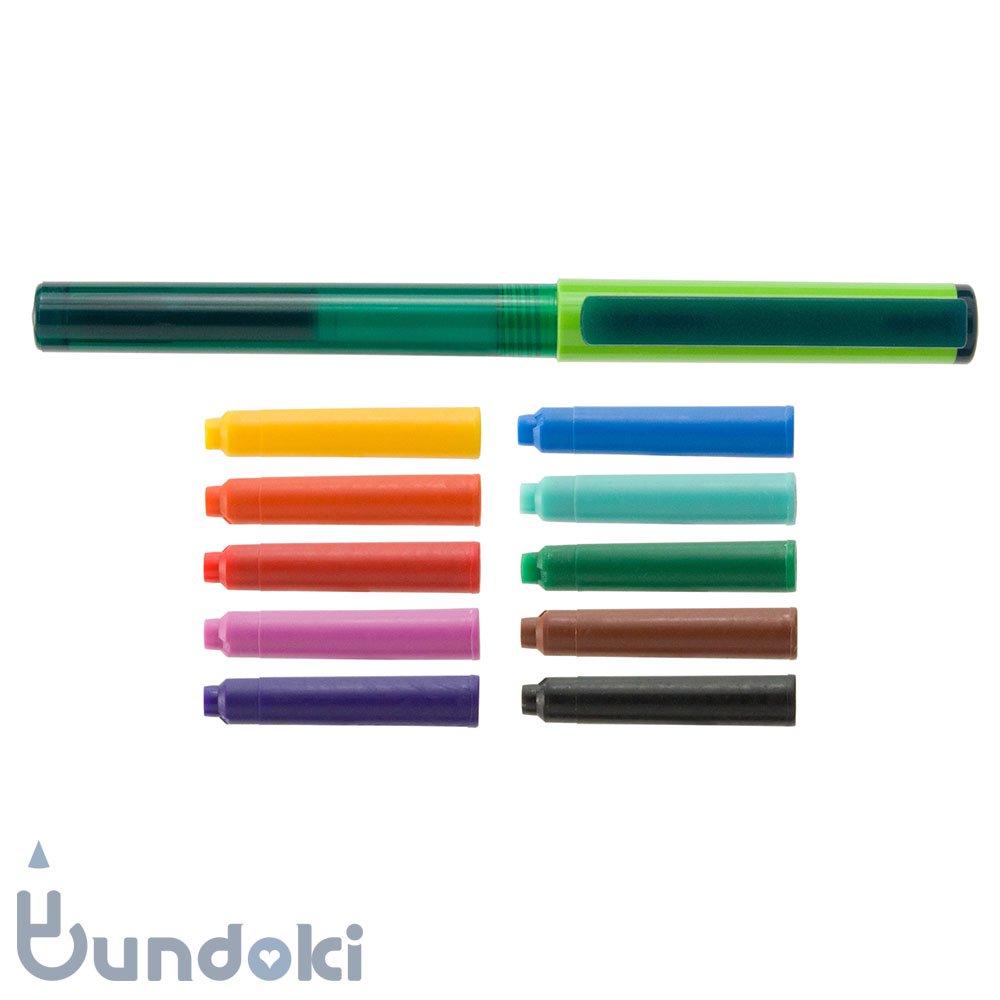 【Viva pen】Space万年筆 &インクカートリッジ10色セット (キウィ×グリーン)