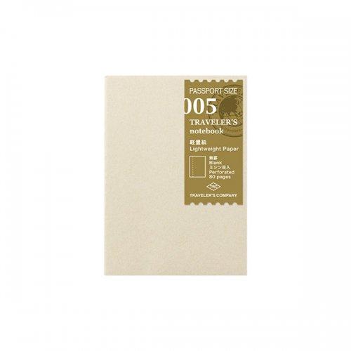 【MIDORI/ミドリ】トラベラーズノート パスポートサイズ リフィル 軽量紙