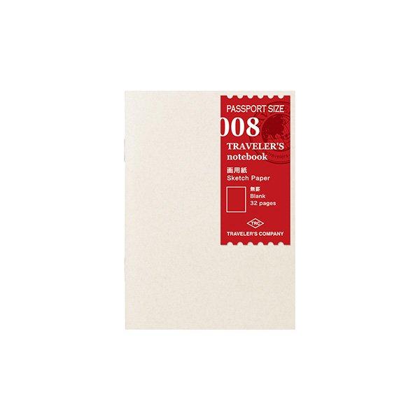 【MIDORI/ミドリ】トラベラーズノート パスポートサイズ リフィル 画用紙