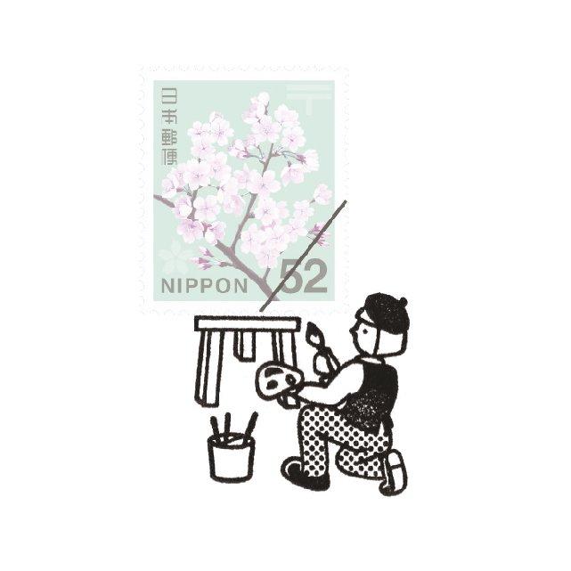 【Vectculture】切手のこびと (022-切手の画家)