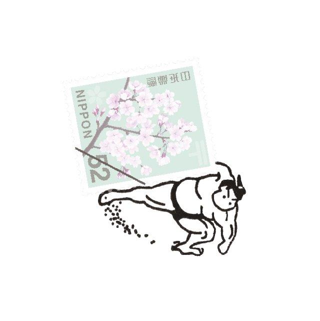 【Vectculture】切手のこびと (024-切手投げ)