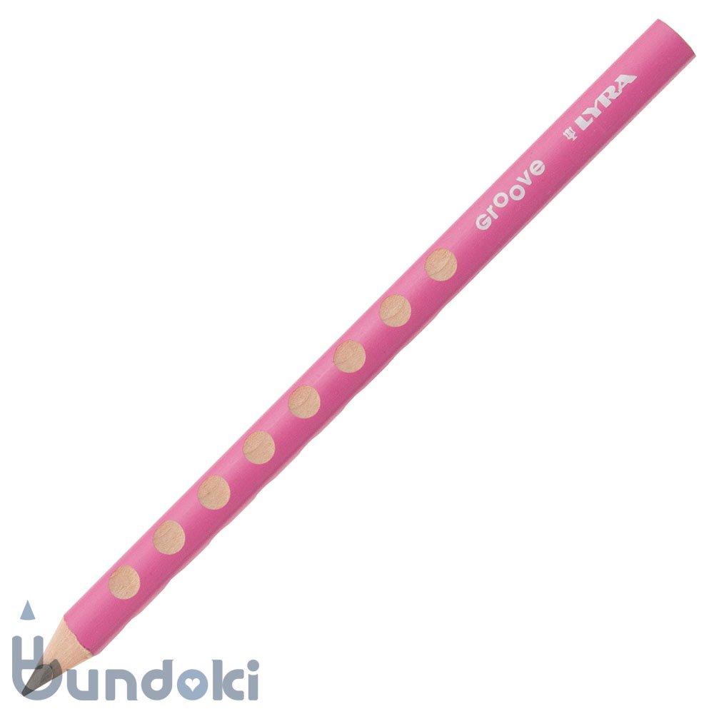 【LYRA/リラ】GROOVE 黒鉛芯鉛筆 (ピンク)