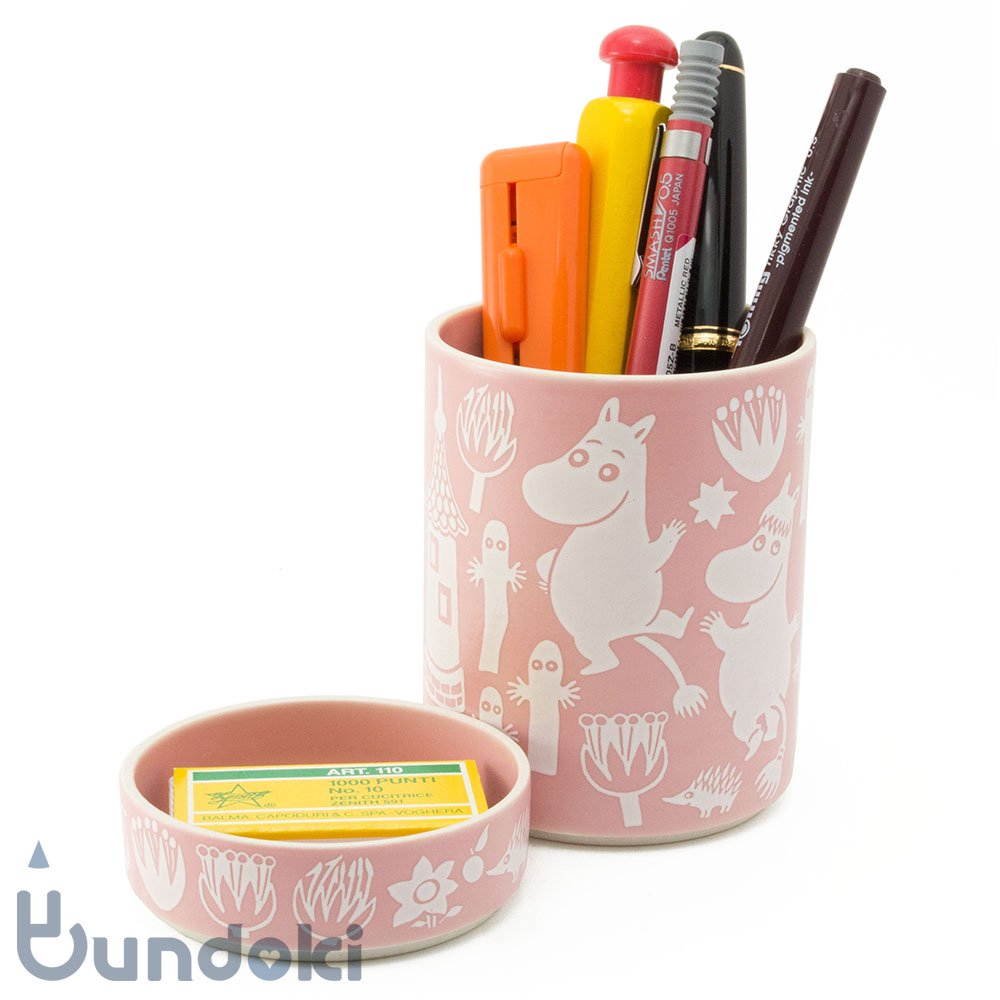 【HIGHTIDE/ハイタイド】波佐見焼ツールホルダー /ムーミン (ピンク)