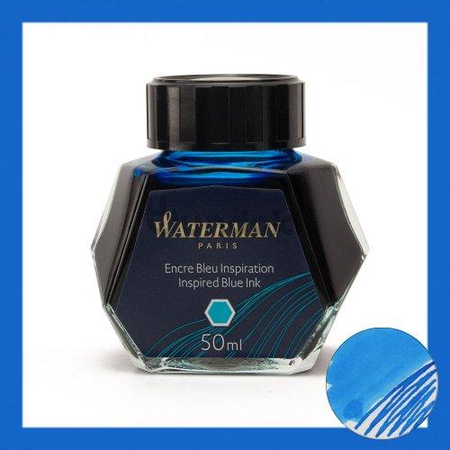 【WATERMAN/ウォーターマン】ボトルインク (SOUTH SEA BLUE/ターコイズ)