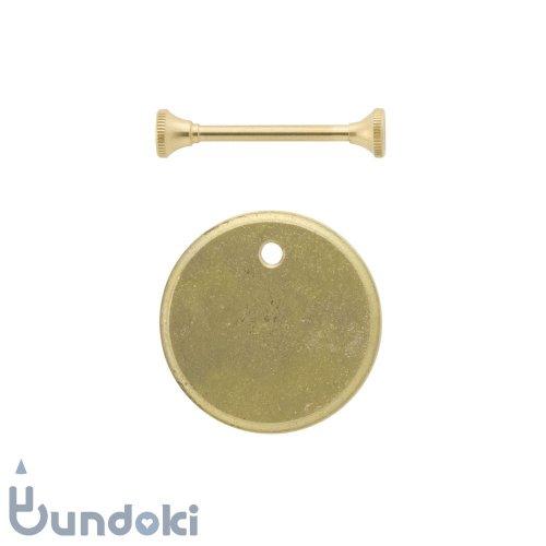 【FUTAGAMI】キーホルダー鋳肌プレート・丸