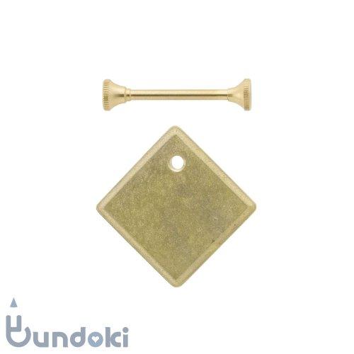 【FUTAGAMI】キーホルダー鋳肌プレート・菱