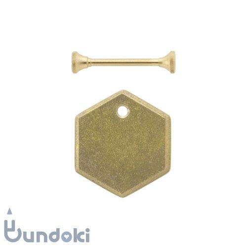 【FUTAGAMI】キーホルダー鋳肌プレート・六角