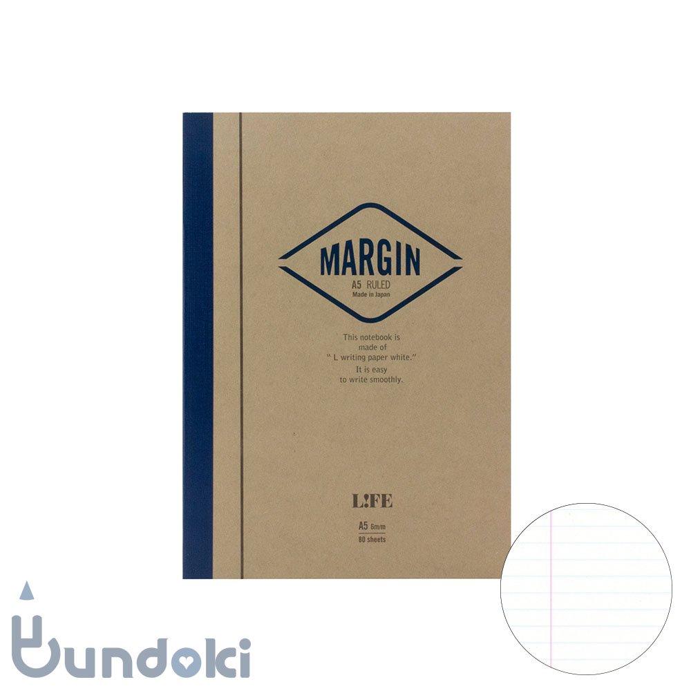 【LIFE/ライフ】MARGIN/マージン  (横罫・A5)