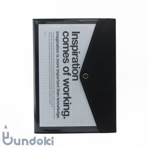 【Delfonics/デルフォニックス】A5マンスリー ポケット (ブラック)