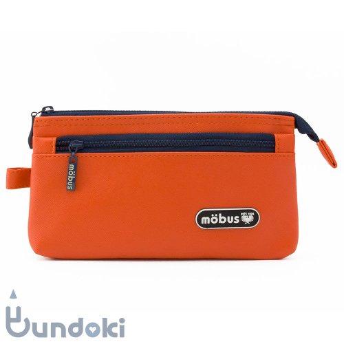 【mobus/モーブス】4ポケットペンケース (オレンジ)
