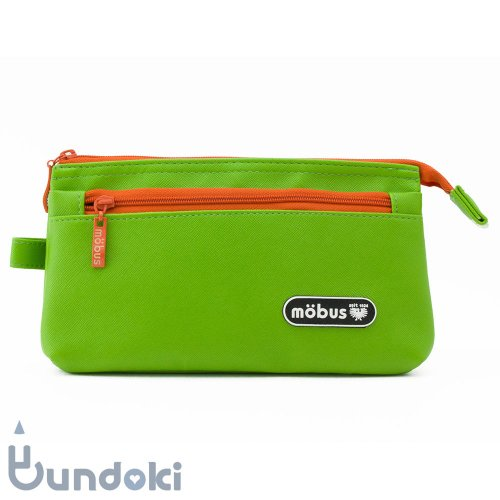 【mobus/モーブス】4ポケットペンケース (ライトグリーン)