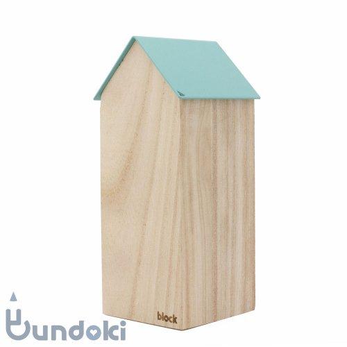 【block/ブロックデザイン】ストレージハウス・ラージ (ライトブルー)