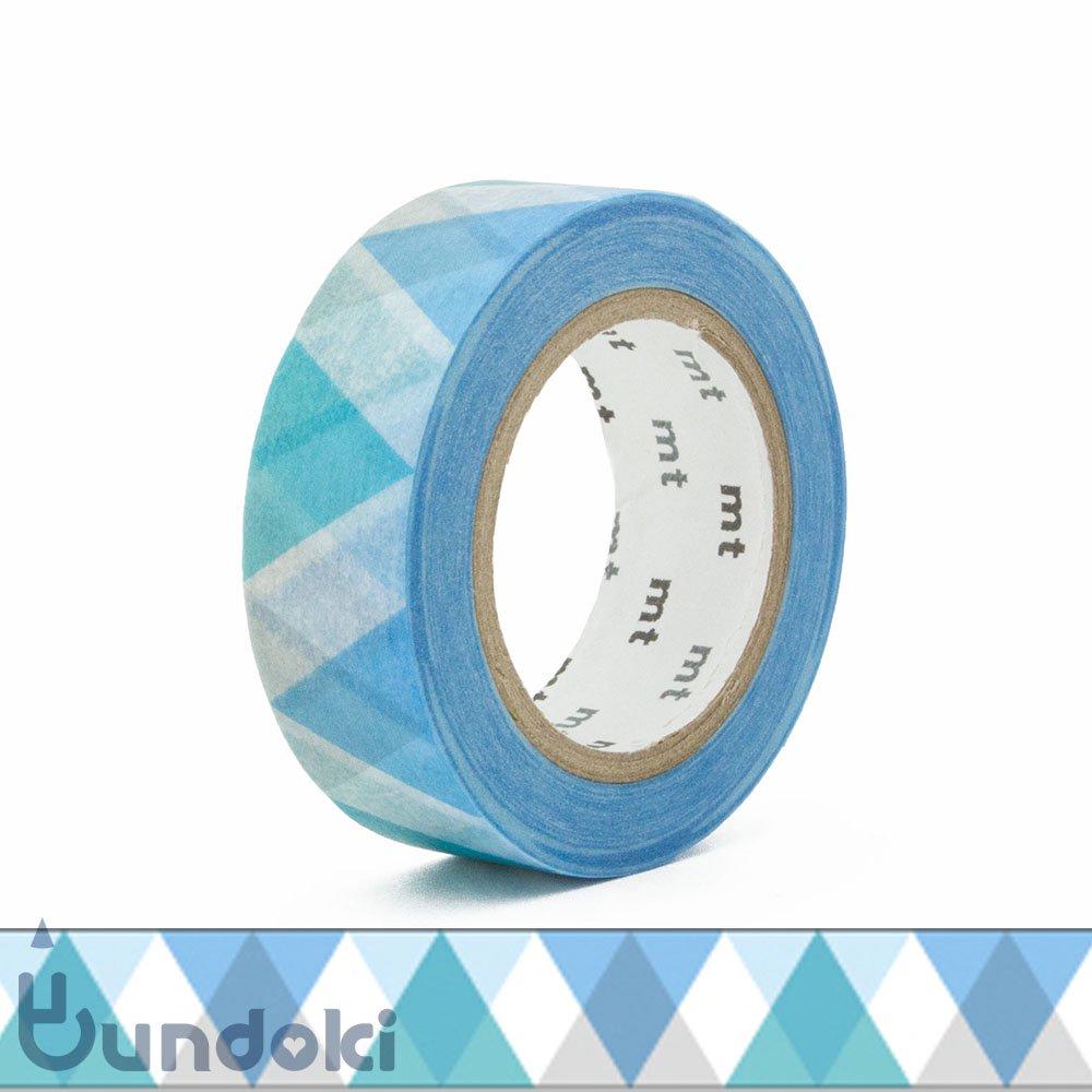 【カモ井加工紙/KAMOI】mtマスキングテープ/三角とダイヤ・ブルー