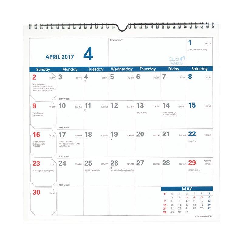 【QuoVadis/クオバディス】ウォールプランナー 2017