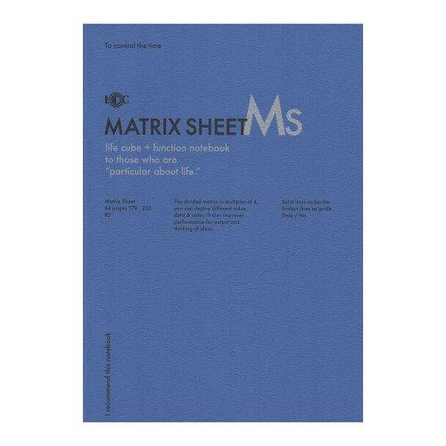【UNITED BEES/ユナイテッドビーズ】ファンクションノート・マトリックスシート (B5)