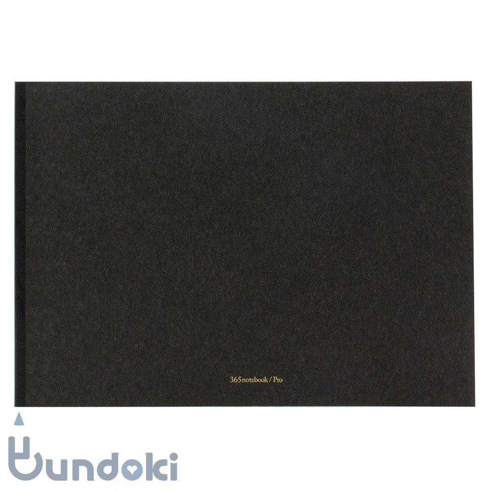 【新日本カレンダー】365 notebook / Pro (A4・炭-sumi)