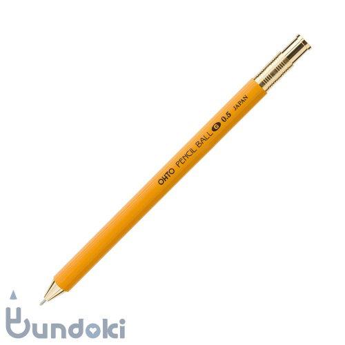 【OHTO/オート】ノック式鉛筆型ボールペン/ペンシルボール0.5 (イエロー)