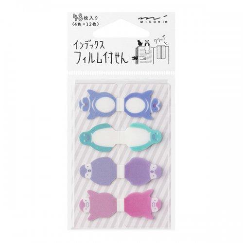 【MIDORI/ミドリ】付せん紙/フィルム インデックス (ペンギン柄)