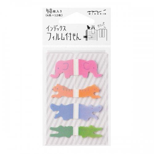 【MIDORI/ミドリ】付せん紙/フィルム インデックス (サファリ柄)