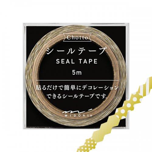 【MIDORI/ミドリ】Ch シールテープ ドット・ストライプ柄 (金)