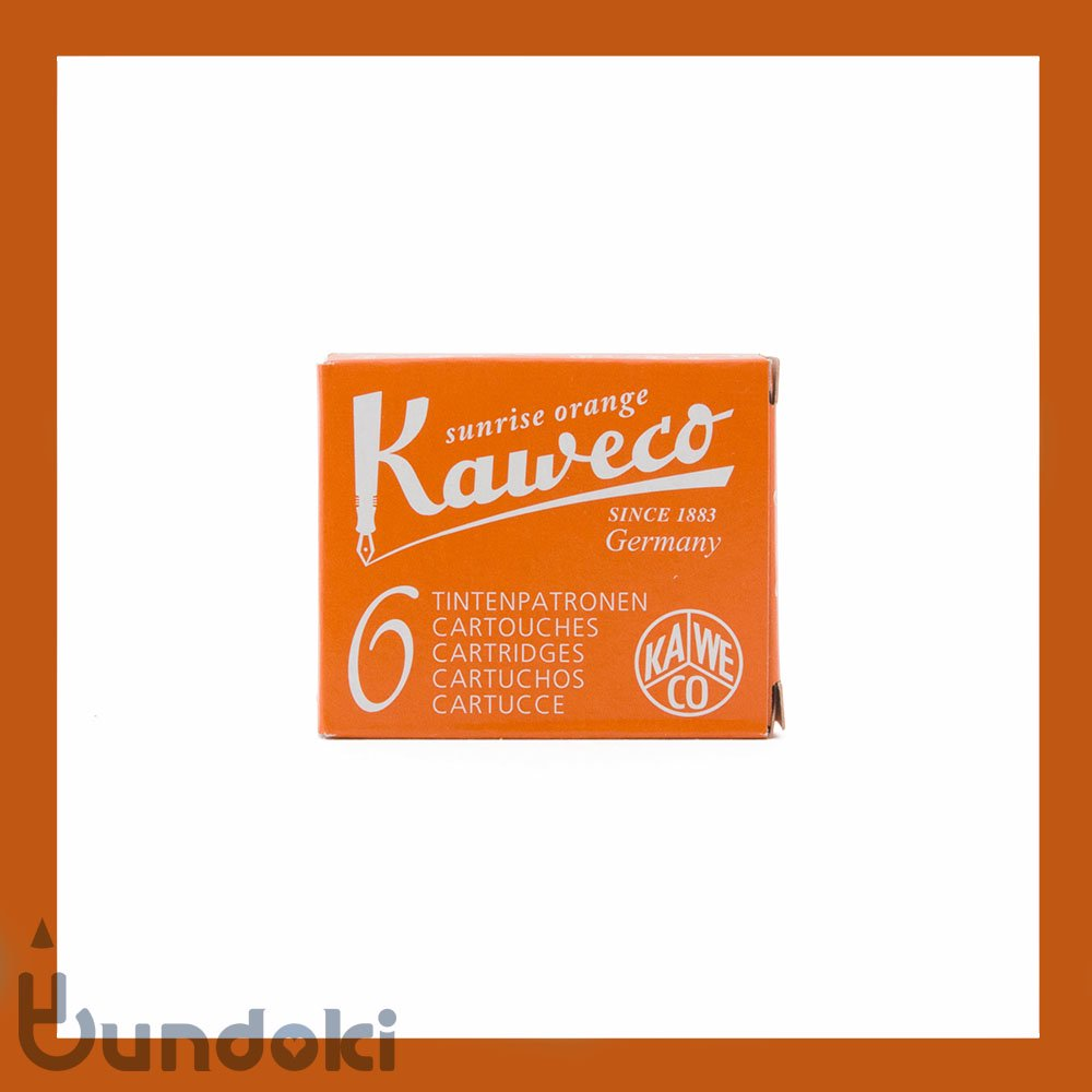 【KAWECO/カヴェコ】インクカートリッジ (オレンジ)