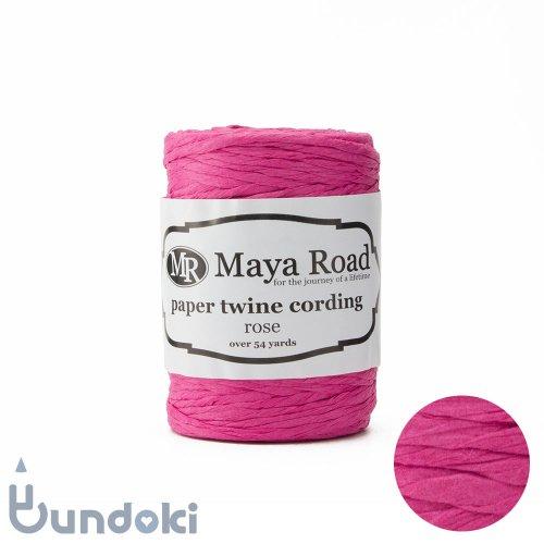 【Maya Road/マヤロード】Paper Twine Cording / 紙ひも (Rose)