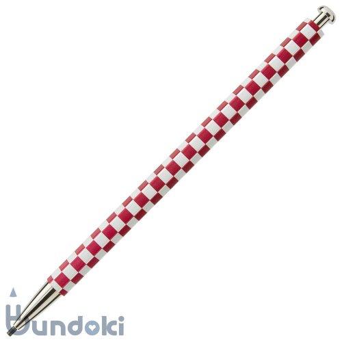 【北星鉛筆】大人の鉛筆・和流 (市松・臙脂)