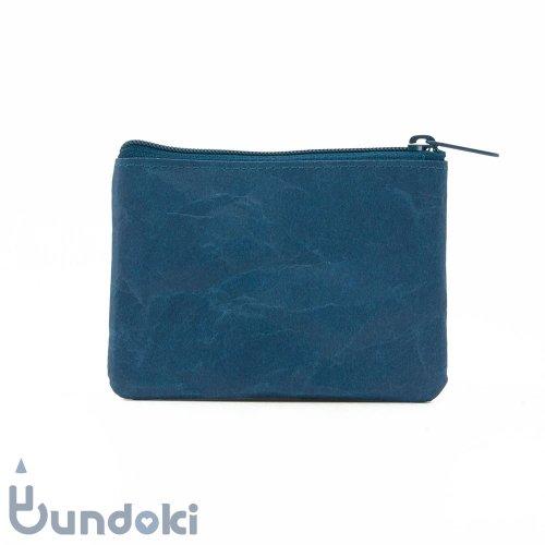 【SIWA・紙和】コインケース wide (ブルー)