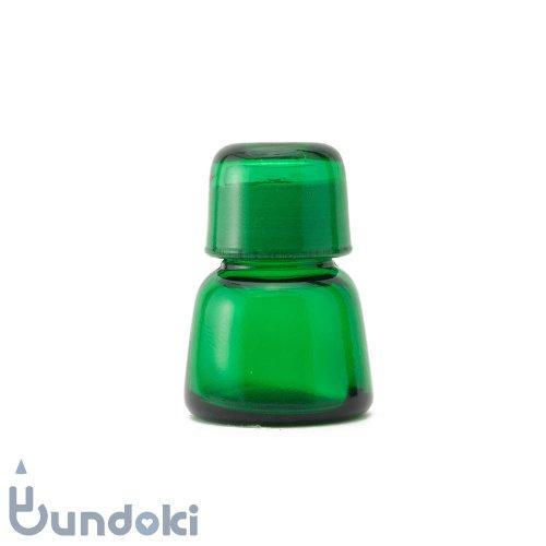 日本製のガラス瓶・有帽薬瓶 (緑)