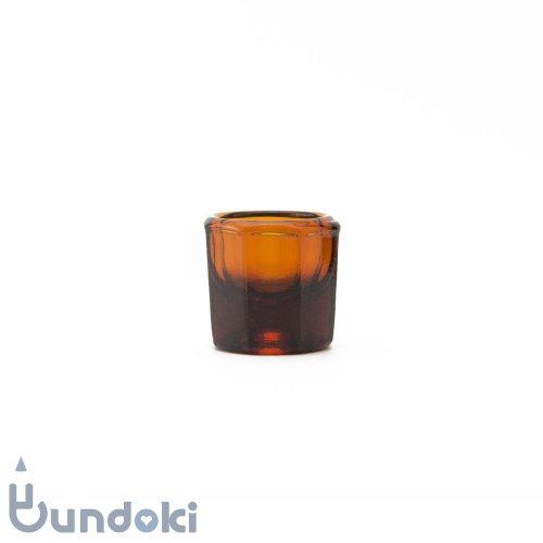 日本製のガラス瓶・ダッペングラス (茶)
