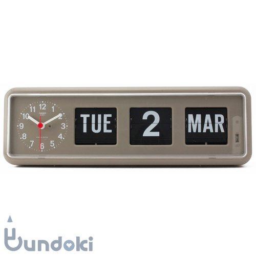 【Twemco/トゥエンコ】Calendar Clock #BQ-38  (Gray)
