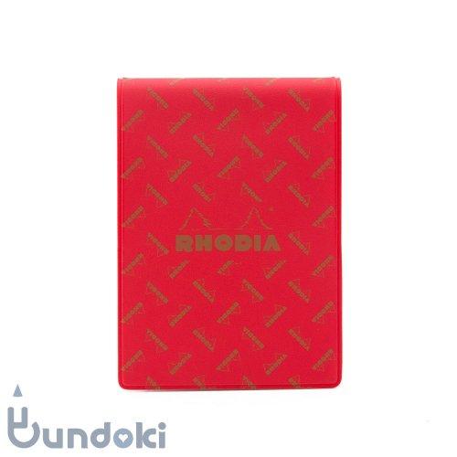 【RHODIA/ロディア】Limited Edition ロディア11・復刻版モノグラム (コクリコレッド)