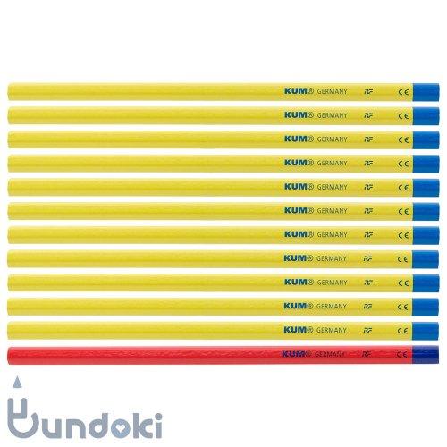 【KUM/クム】KUM 鉛筆 2B / 鉛筆11本+赤鉛筆1本 (軸色イエロー)
