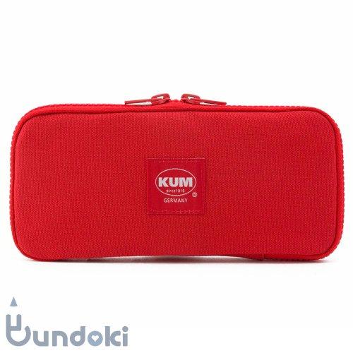 【KUM/クム】KUM フラットペンケース (レッド)