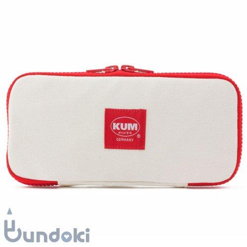 【KUM/クム】KUM フラットペンケース (ホワイト)