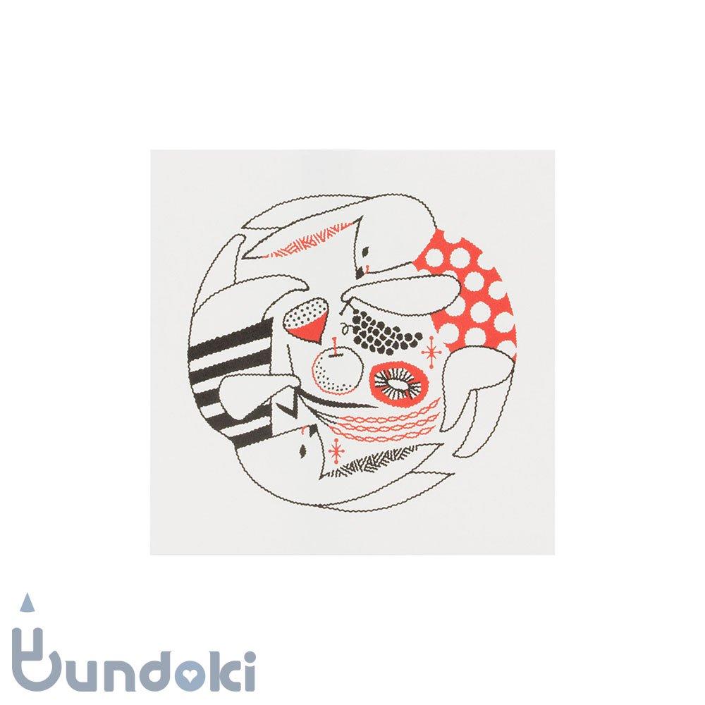 【水縞/mizushima】福田利之×水縞 グリーティングカード (うさぎ)