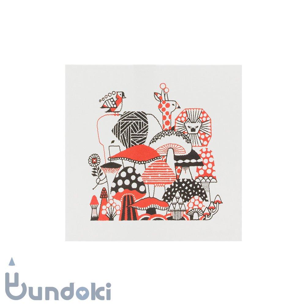 【水縞/mizushima】福田利之×水縞 グリーティングカード (きのこ)