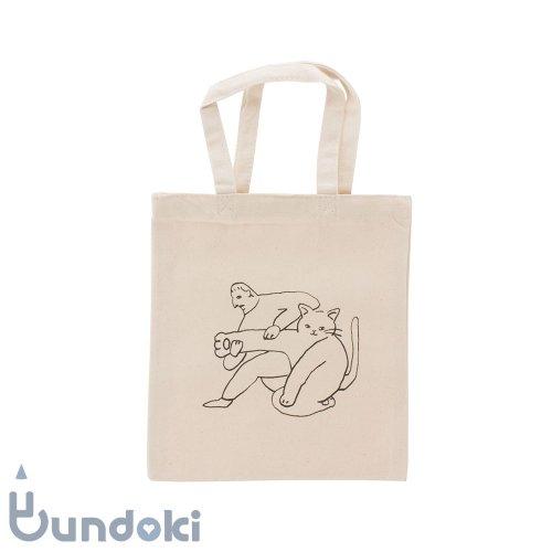 【水縞/mizushima】ことわざ動物園エコバッグ (猫の手も借りたい)