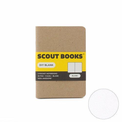 【SCOUT BOOKS/スカウトブックス】DIY Series・パスポートサイズ3冊セット (Blank/無地)